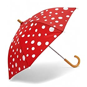 red polkadot kids umbrella