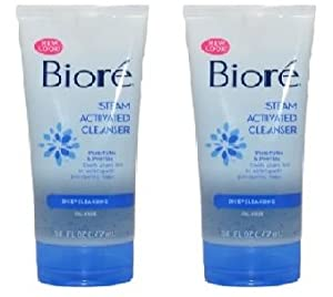 Biore Steam Activated Deep Cleaning Cleanser 5 oz - Pack of 2