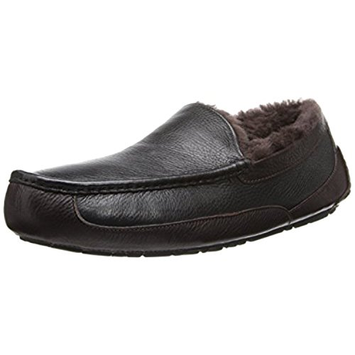 Ugg Australia Ascot Hommes Cuir Chaussures Pantoufles
