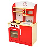 TecTake Cocina de madera de juguete para ni�os juguete juego de rol toy rojo