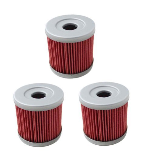 New Pack of 3 Oil Filter for Suzuki Z400 LTZ400 LT-Z400 Z LTZ 400 LTR450 LT-R450 LTR 450 DRZ400 Kawasaki KFX400 KFX 400 Artic Cat DVX400 DVX 400 Replace HF139 & KN139 (Z400 Oil Filter compare prices)