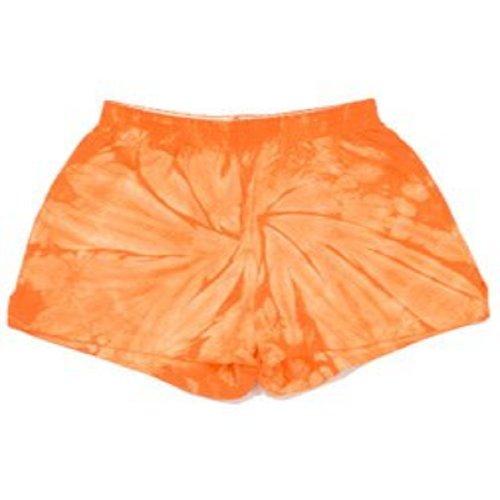 Tie-Dye Shorts ~ Soffe Shorts ~ 100% Cotton ~ Spider Orange (Kids Medium)