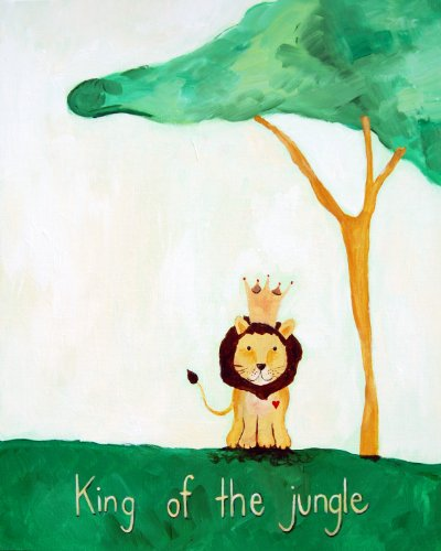 Cici Art Factory Wall Art, King of the Jungle, Small