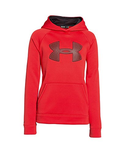 Under Armour Boys' Fleece Storm Big Logo Hoodie, Risk Red (600), Medium