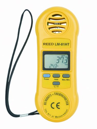 Reed LM-81HT Thermo-Hygrometer, 32 to 122 Degrees F Temperature Range, 10 to 95%RH Humidity Range