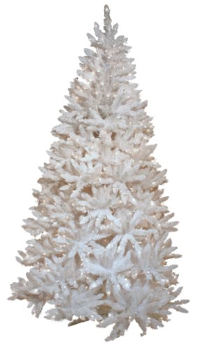 Good Tidings Vail Artificial Prelit 7-1/2-Foot White Christmas Tree