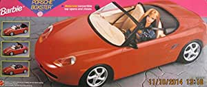 Barbie porsche boxster sports car vehicle w for Motorized barbie convertible car
