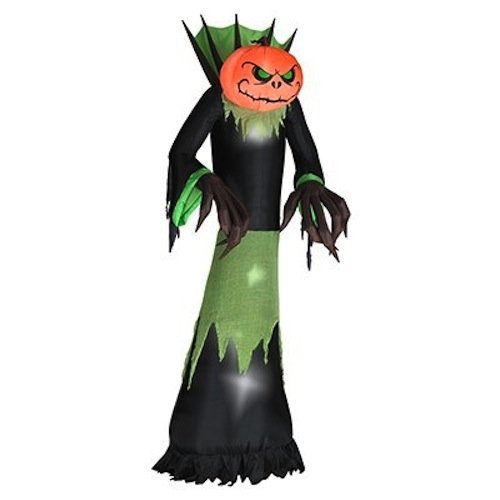 5.5 Ft Tall Halloween Airblown Inflatable Pumpkin Head Reaper With Lights front-886618