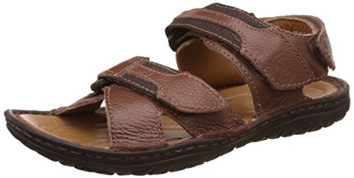 Woodland Men's Medium Brown Leather Sandals and Floaters - 9 UK/India (43 EU)  available at amazon for Rs.1857
