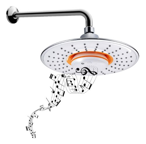 Bidet4Me Msh-10 Musical Showerhead Waterproof Speaker + Bluetooth + Shower Arm - Value Pack