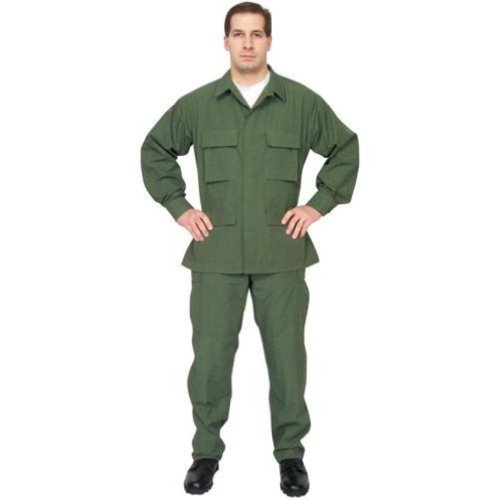 Outdoor Men's Ripstop Hunting Bdu Fatigue Shirt 2X Large Olive Drab Green - Outdoor at Sears.com