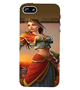PRINTVISA Warrior Girl Case Cover for Apple iPhone 5S