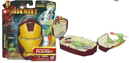 IRON MAN 2 - Micro Heads Mini Playsets - Mark III Armor - 1