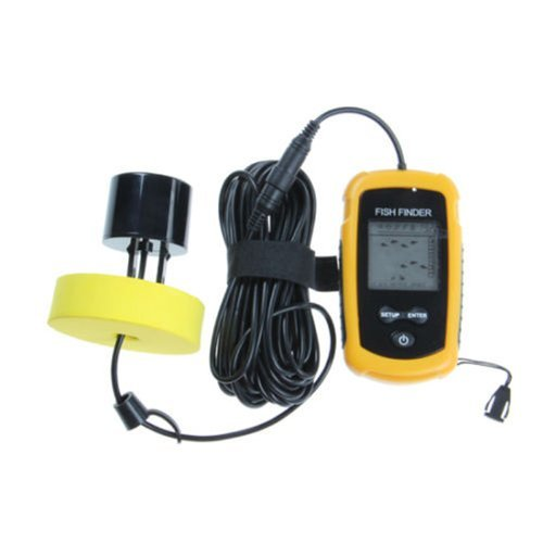 Fish Finder New Portable Sonar LCD Alarm Sea