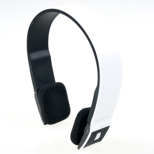 MAXAH® Universal Wireless Bluetooth Stereo Headset Headphone Earphone Handsfree Microphone for Samsung Galaxy 3 4 iPhone 4 4S 5 5S HTC NOKIA Phone TABLET LAPTOP. (White) MAXAH Wireless autotags B00F2FNSC0