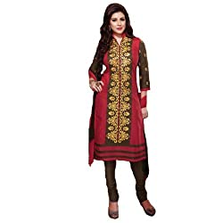 StarMart Womens Cotton Straight Dress Material of Selina - 4707