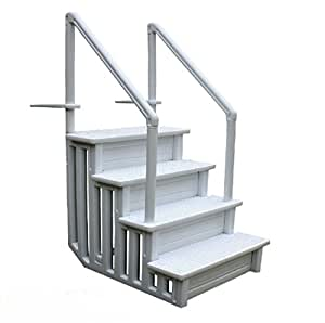 Swimming pool ladder heavy duty step system entry non slippery above ground patio for Heavy duty swimming pool ladders
