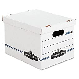 Bankers Box : Stor/File Box w/Handles, Letter/Lgl, 12 x 15 x 10, WE/Blue, 4/Carton -:- Sold as 2 Packs of - 4 - / - Total of 8 Each