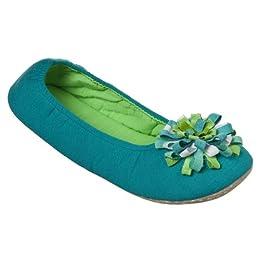 Product Image Xhilaration® Womens Ribbon Pom Ballerina Slipper - Green