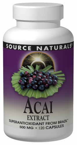 Source Naturals Acai Extract Capsules, 500mg, 120 Count