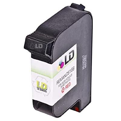 LD &copy Hewlett Packard C6168A Spot Color Red Remanufactured Ink Cartridge for Industrial Printing on Non-Porous Substrates