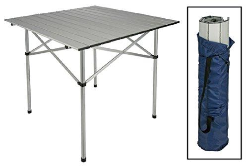 Vogel Germany alluminio marche-Tavolino-Tavolo da campeggio avvolgibile con custodia 70x 70x 70