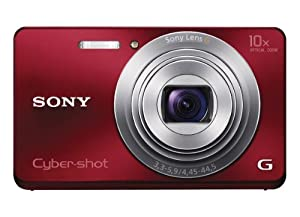 Sony Cyber-shot DSC-W690 16.1 MP Digital Camera with 10x Optical Zoom and 3.0-inch LCD (Red) (2012 Model)