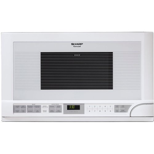 Sharp R-1211 1-1/2-Cubic Feet 1100-Watt Over-the-Counter Microwave, White (Built In Microwave White compare prices)
