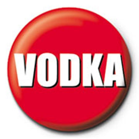 Vodka - Vodka - Ansteck Button Ø2,5 cm