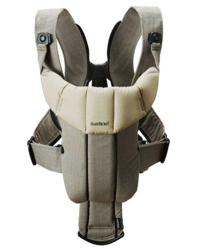 BABYBJÖRN Baby Carrier Active - Walnut/Khaki, Organic