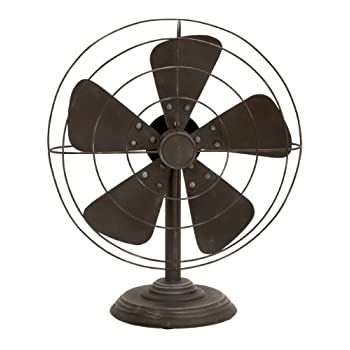 Deco 79 Decorative Vintage-Style Fan(Decor only)