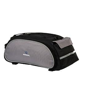 iColourful Cycling Bike Bicycle Frame Pack Rear Rack Seat Multifunctional Bag (Black)