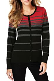 M&S Collection Bobble Button Striped Cardigan [T38-5601A-S]