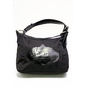 Prada Fabric & Leather BR3212 Mid Sized Handbag