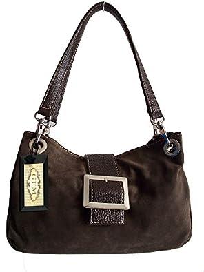 GFM Small Mini Size Italian Suede Bag Handbag (MN-GHKEK-00)