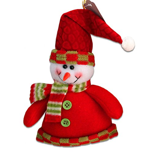 17cm Christmas Decoration Pendants Outside Christmas Tree Hanging Ornaments Santa Claus Snowman Deer Doll