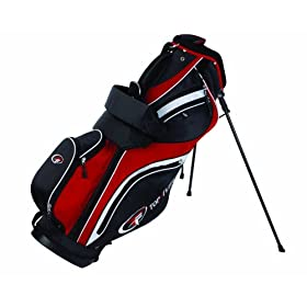 Top Flite Stand Bag, Black/Red/White
