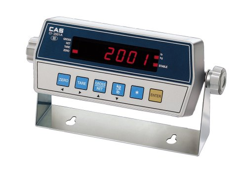 "Cas Ci-2001As Stainless Steel Weighing Indicator With Bright Led Display, Stainless Steel Case, 7.87"" W X 5.11"" D X 2.08"" H"
