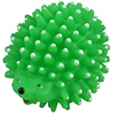 Uxcell Vinyl Rubber Hedgehog Shaped Squeaky Chew Pet Toy, Green