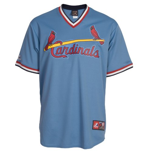 MLB St. Louis Cardinals Cooperstown Replica Baseball Jersey, Blue, M at Amazon.com