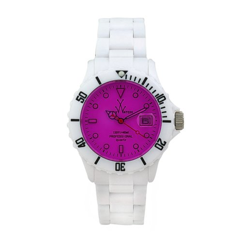 Toy Watch Unisex FL01WHVL Crystal Plasteramic Watch