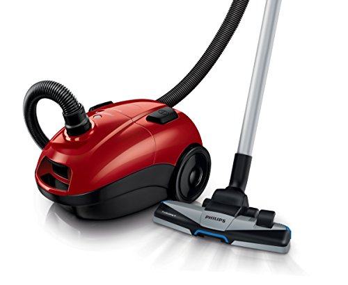 Philips FC8322/09 POWERLIFE Aspirateur Sac Classe B Brosse TriActive + Rouge Vif