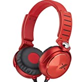 Sony MDRX05/BR Over-the-Ear Headphones | Red/Black