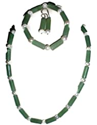 Naarilok Pearl And Jades Chain Set For Women