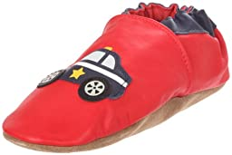 Robeez Soft Soles Police Car Pre-Walker (Infant/Toddler/Little Kid),Red/Navy,3-4 Years (10.5-11.5 M US Little Kid)