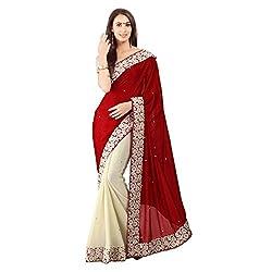 Red With Georgette t Designer Lehenga Saree