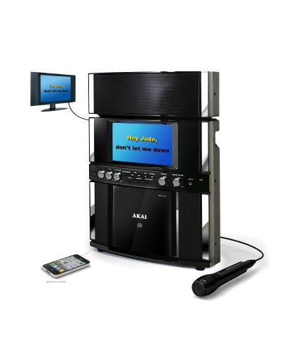 Cheapest Price! Akai Karaoke KS800 Front Load CD+G Karaoke System