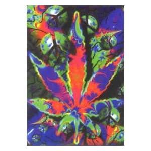 Psychedelic marijuana leaves