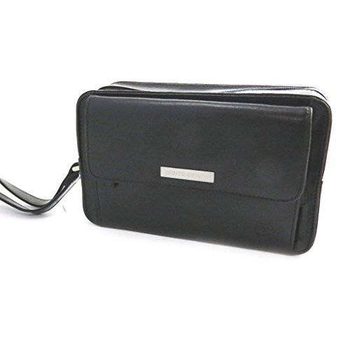Custodia in pelle 'Pierre Cardin'nero (23.5x14.5x9 cm).