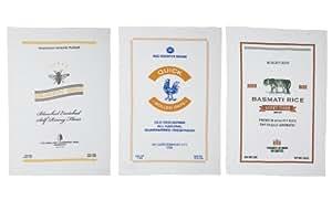 Now Designs Printed Floursack Towels, Heritage Grains Print, Set of 3